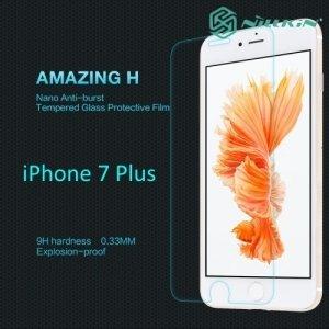 Противоударное закаленное стекло на iPhone 8 Plus / 7 Plus  Nillkin Amazing 9H