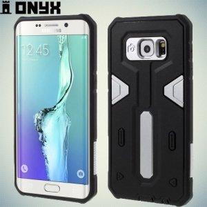 Противоударный чехол для Samsung Galaxy S6 Edge Plus - Серебряный