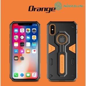 Противоударный чехол NILLKIN Defender II для iPhone Xs / X - Оранжевый