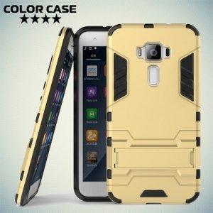 Противоударный гибридный чехол для Asus Zenfone 3 ZE520KL - Золотой