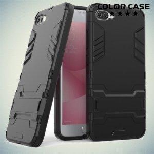 Противоударный гибридный чехол для ASUS ZenFone 4 Max ZC554KL - Черный