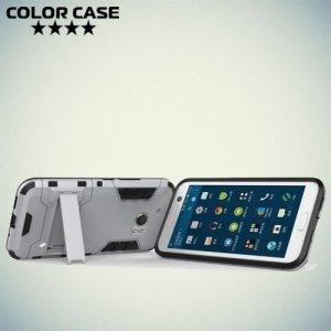 Противоударный гибридный чехол для HTC 10/10 Lifestyle - Серебряный