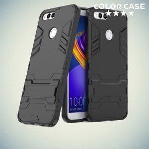 Противоударный гибридный чехол для Huawei Honor 7X - Черный