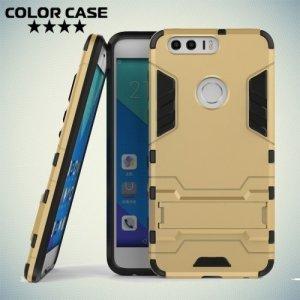 Противоударный гибридный чехол для Huawei Honor 8 - Золотой