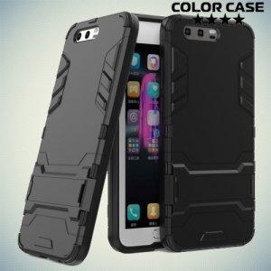 Противоударный гибридный чехол для Huawei Honor 9 - Черный