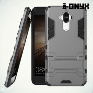 Противоударный гибридный чехол для Huawei Mate 9 - Серый