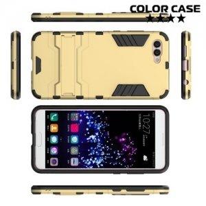 Противоударный гибридный чехол для Huawei Nova 2s - Золотой