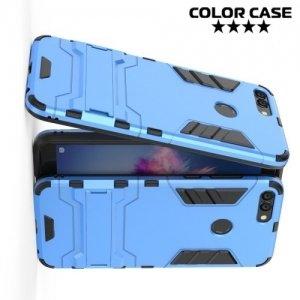 Противоударный гибридный чехол для Huawei P Smart - Голубой