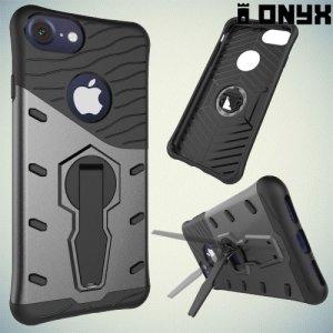 Onyx Противоударный силиконовый чехол для iPhone 8/7 - Серый