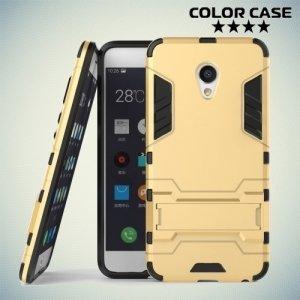 Противоударный гибридный чехол для Meizu MX6 - Золотой