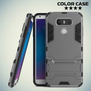 Противоударный гибридный чехол для LG G6 H870DS - Серый