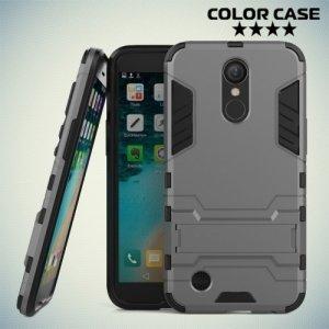 Противоударный гибридный чехол для LG K10 2017 M250 - Серый