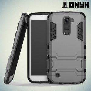 Противоударный гибридный чехол для LG K10 K410 K430DS - Серый