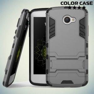 Противоударный гибридный чехол для LG K5 X220ds - Серый