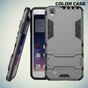 Противоударный гибридный чехол для LG X Power K220DS - Серый