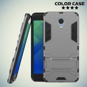 Противоударный гибридный чехол для Meizu M5 Note - Серый