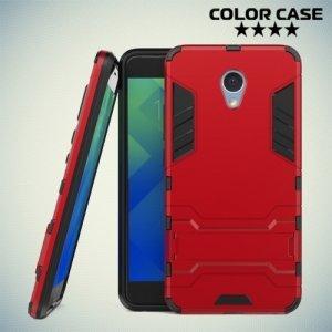 Противоударный гибридный чехол для Meizu M5 Note - Красный