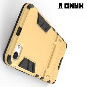 Противоударный гибридный чехол для Meizu U10 - Золотой