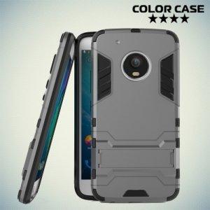 Противоударный гибридный чехол для Moto G5 Plus - Серый