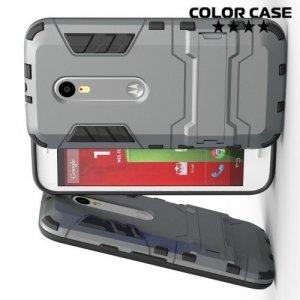 Противоударный гибридный чехол для Motorola Moto G Gen.3 - Серый