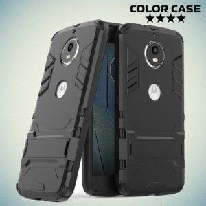 Противоударный гибридный чехол для Motorola Moto G5S - Черный