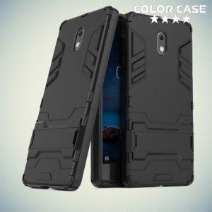 Противоударный гибридный чехол для Nokia 3 - Черный