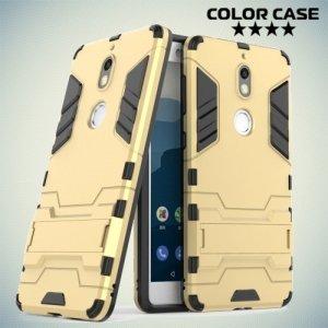 Противоударный гибридный чехол для Nokia 7 - Золотой