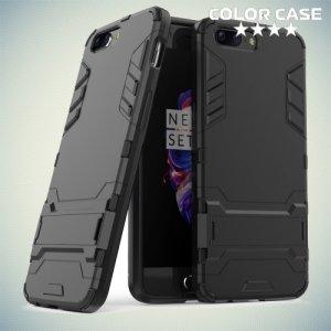 Противоударный гибридный чехол для OnePlus 5 - Черный