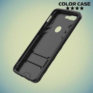 Противоударный гибридный чехол для OnePlus 5T - Черный