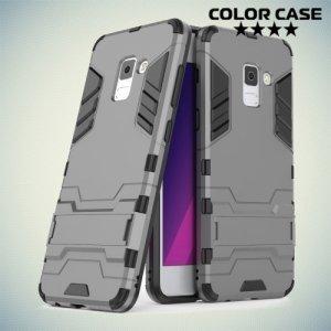 Противоударный гибридный чехол для Samsung Galaxy A5 2018 SM-A530F - Серый