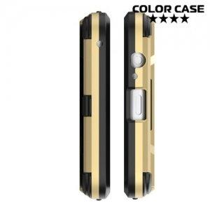 Противоударный гибридный чехол для Samsung Galaxy A5 2018 SM-A530F - Черный