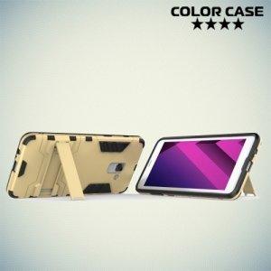 Противоударный гибридный чехол для Samsung Galaxy A7 2018 SM-A730F - Серый