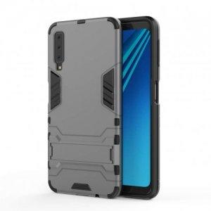 Противоударный гибридный чехол для Samsung Galaxy A7 2018 SM-A750F - Серый