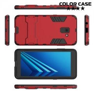 Противоударный гибридный чехол для Samsung Galaxy A8 Plus 2018 - Красный