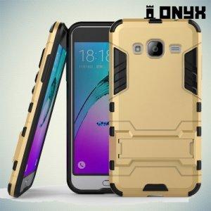 Противоударный гибридный чехол для Samsung Galaxy J3 2016 SM-J320F - Золотой