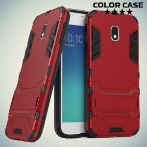 Противоударный гибридный чехол для Samsung Galaxy J3 2017 SM-J330F - Красный