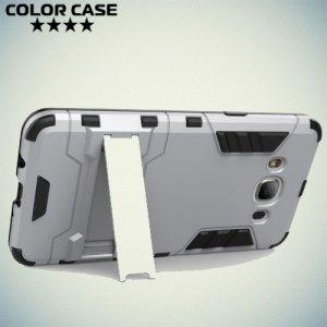 Противоударный гибридный чехол для Samsung Galaxy J5 2016 SM-J510 - Серый