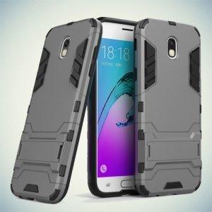 Противоударный гибридный чехол для Samsung Galaxy J5 2017 - Серый