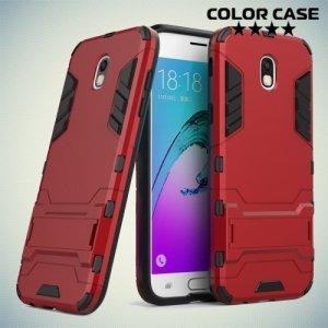 Противоударный гибридный чехол для Samsung Galaxy J5 2017 SM-J530F - Красный
