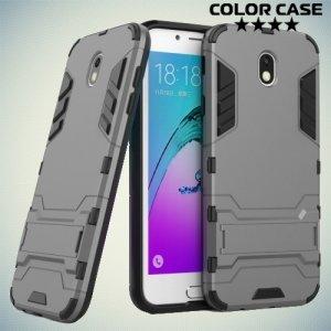 Противоударный гибридный чехол для Samsung Galaxy J7 2017 - Серый