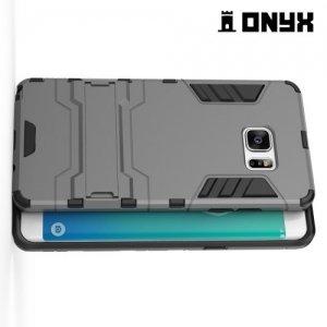 Противоударный гибридный чехол для Samsung Galaxy Note 7 - Серый