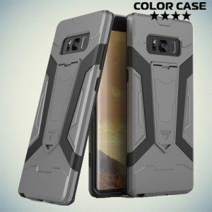 Противоударный гибридный чехол для Samsung Galaxy Note 8 - Серый
