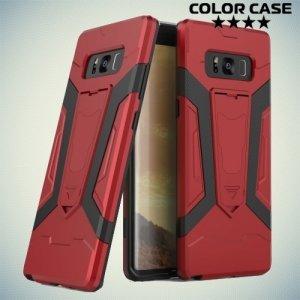 Противоударный гибридный чехол для Samsung Galaxy Note 8 - Красный