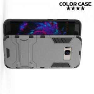 Противоударный гибридный чехол для Samsung Galaxy S8 Plus - Серый