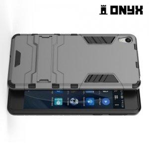 Противоударный гибридный чехол для Sony Xperia E5 - Серый
