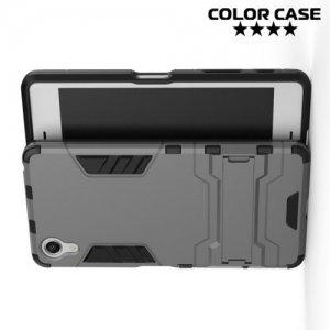 Противоударный гибридный чехол для Sony Xperia X Performance - Серый