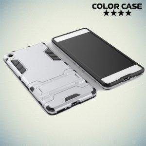 Противоударный гибридный чехол для Sony Xperia XA - Серебряный