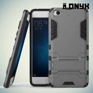 Противоударный гибридный чехол для Xiaomi Mi 5s - Серый