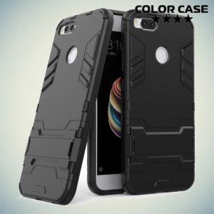 Противоударный гибридный чехол для Xiaomi Mi 5x / Mi A1 - Черный