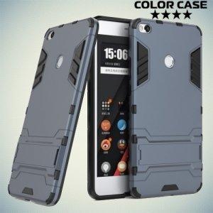 Противоударный гибридный чехол для Xiaomi Mi Max 2 - Серый